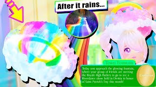 🌈 RAINBOW HALO & AFTER IT RAINS BADGE! St.Patrick's LUCKY Halo! Royale High UPDATE
