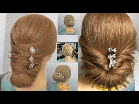 3-easy-hairstyles-for-long-hair-2019-step-by-step-new-bun-hairstyle-for-wedding-and-party