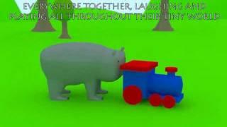 tiny hippo and tiny train