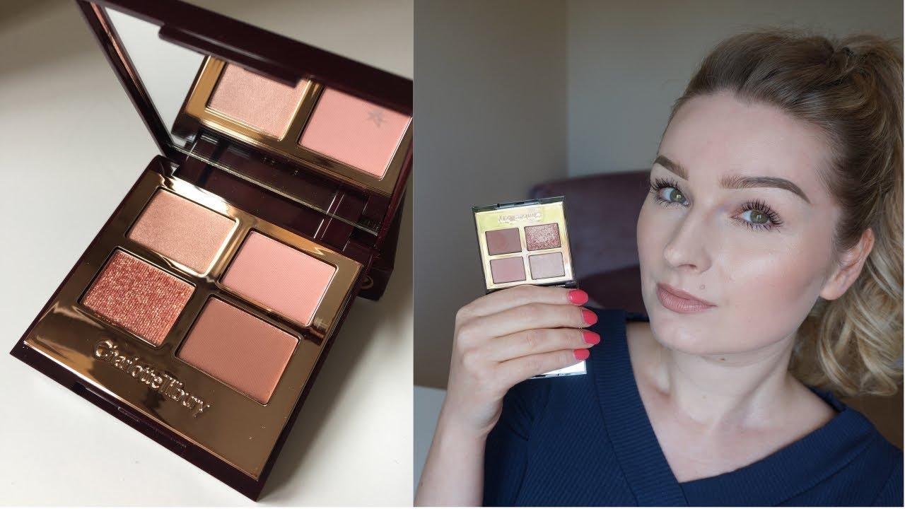 new charlotte tilbury pillow talk eyeshadow palette swatches