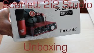 focusrite scarlett 2i2 studio bundle    unboxing