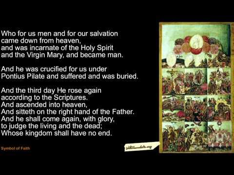 Nicene-Constantinopolitan Creed (Symbol Of Faith) In English