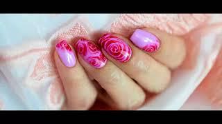 КРУТО!!!!!  как нарисовать розы на ногтях nail-art 2018
