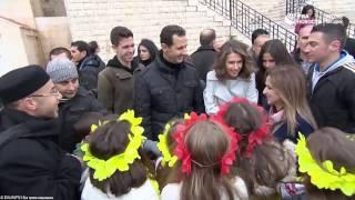 Асад посетил сиротский приют(Башар Асад с супругой посетили сиротский приют при монастыре Сейдная и поздравили детей с Рождеством., 2016-12-26T16:04:21.000Z)