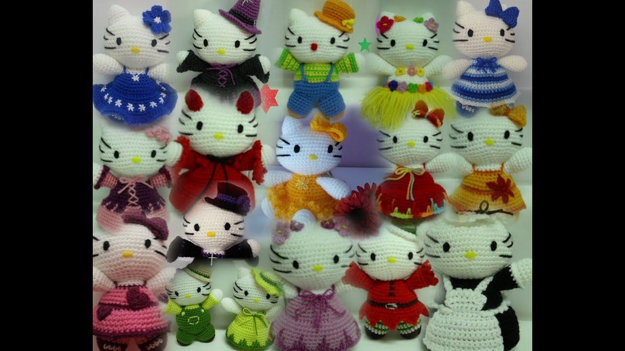 Coleccion munecos amigurumi (hello kitty, flores ...