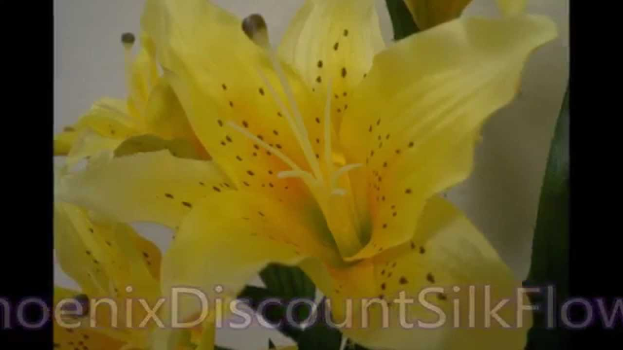 Tiger lily artificial silk flowers 687 youtube tiger lily artificial silk flowers 687 izmirmasajfo