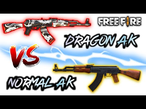 DRAGON AK VS NORMAL AK FULL COMPARISON || AK DAMMAGE TEST AND WHICH IS BEST IN FREEFIRE ?...