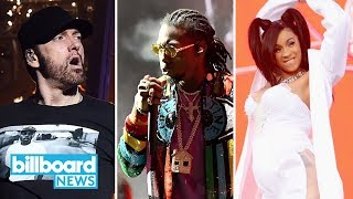 Eminem, Cardi B & Migos Close Out Coachella 2018 | Billboard News