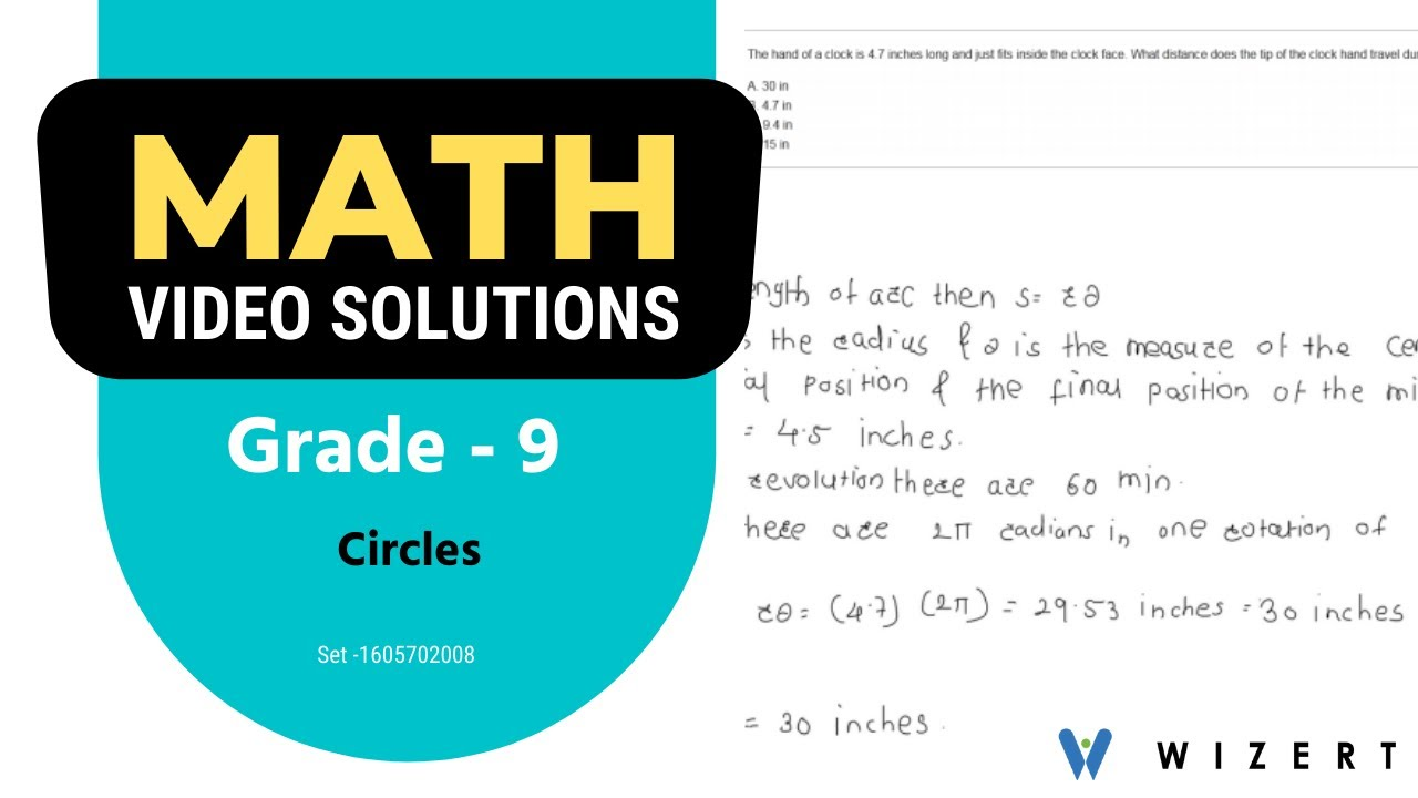 medium resolution of Grade 9 Mathematics Worksheets - Circles worksheet pdfs for Grade 9 - Set  1605702008 - YouTube