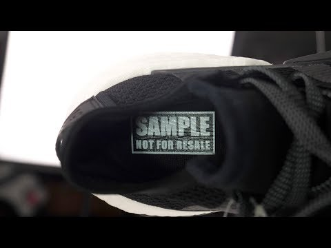 CONFIDENTIAL SAMPLE ADIDAS BOOST SNEAKER UNBOXING