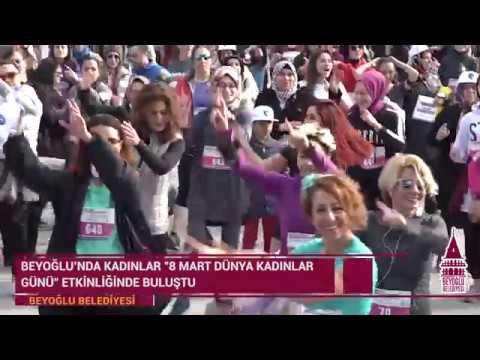 Beyoğlu, Dünya Kadınlar Günü için Koştu
