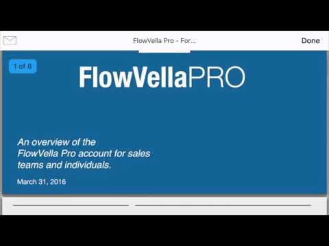 Presentation App - PDF Viewing and Emailing on FlowVella