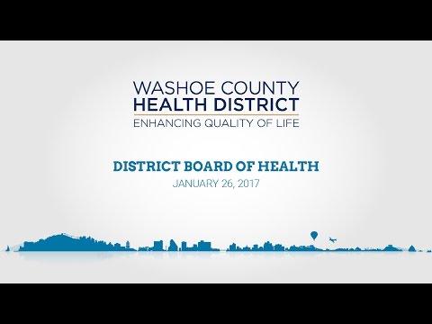 Washoe County District Board of Health | January 26, 2017
