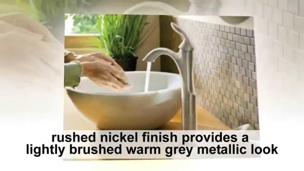 Moen 6400BN Eva One Handle High Arc Bathroom Faucet Reviews - YouTube