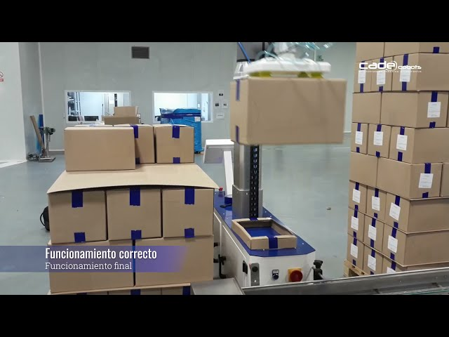 Puesta en marcha de demo de solución robótica colaborativa de paletizado