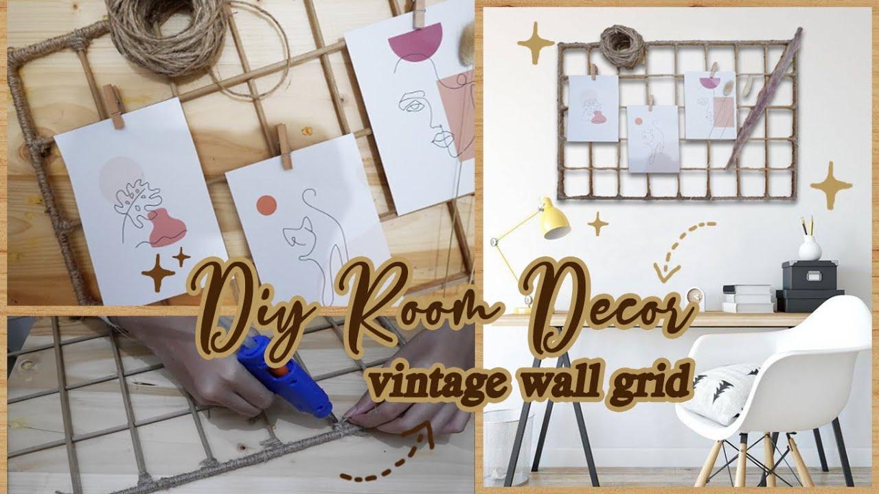 DIY ROOM DECOR AESTHETIC #1 || Vintage Wall Grid - Wall ...