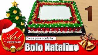 Bolo Natalino 01 (Dicas para confeitar)