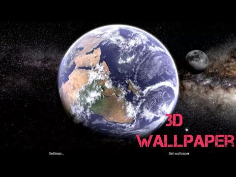 Earth & Moon 3D Live Wallpaper For Android|| Download From The Play Store||