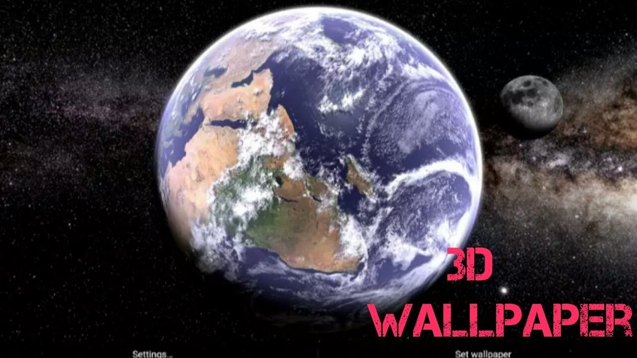 earth & moon 3d live wallpaper for android|| download from the play