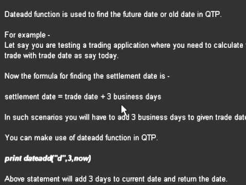 DateAdd function in QTP with example