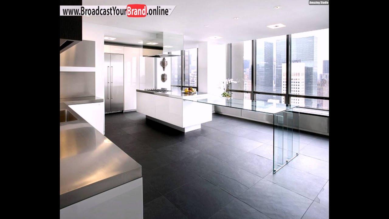Wei e minimalistische k che wohnung interieur youtube for Wohnung minimalistisch