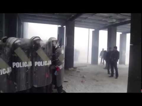 09.02.15r STRAJK JSW - POlicja strzela do górników