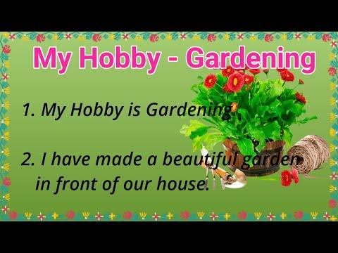 10 Lines on My Hobby Gardening for Kids in English!! My Hobby Gardening!! Ashwin's World
