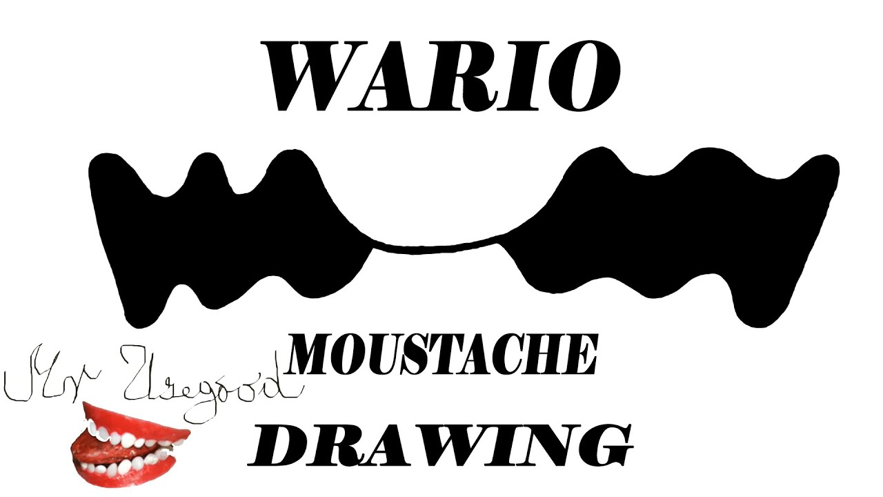 how to draw a mustache on a child