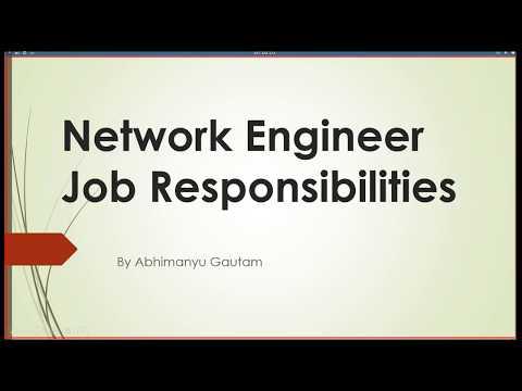 Network Engineer Job Role  Responsibilities Network Engineer Job