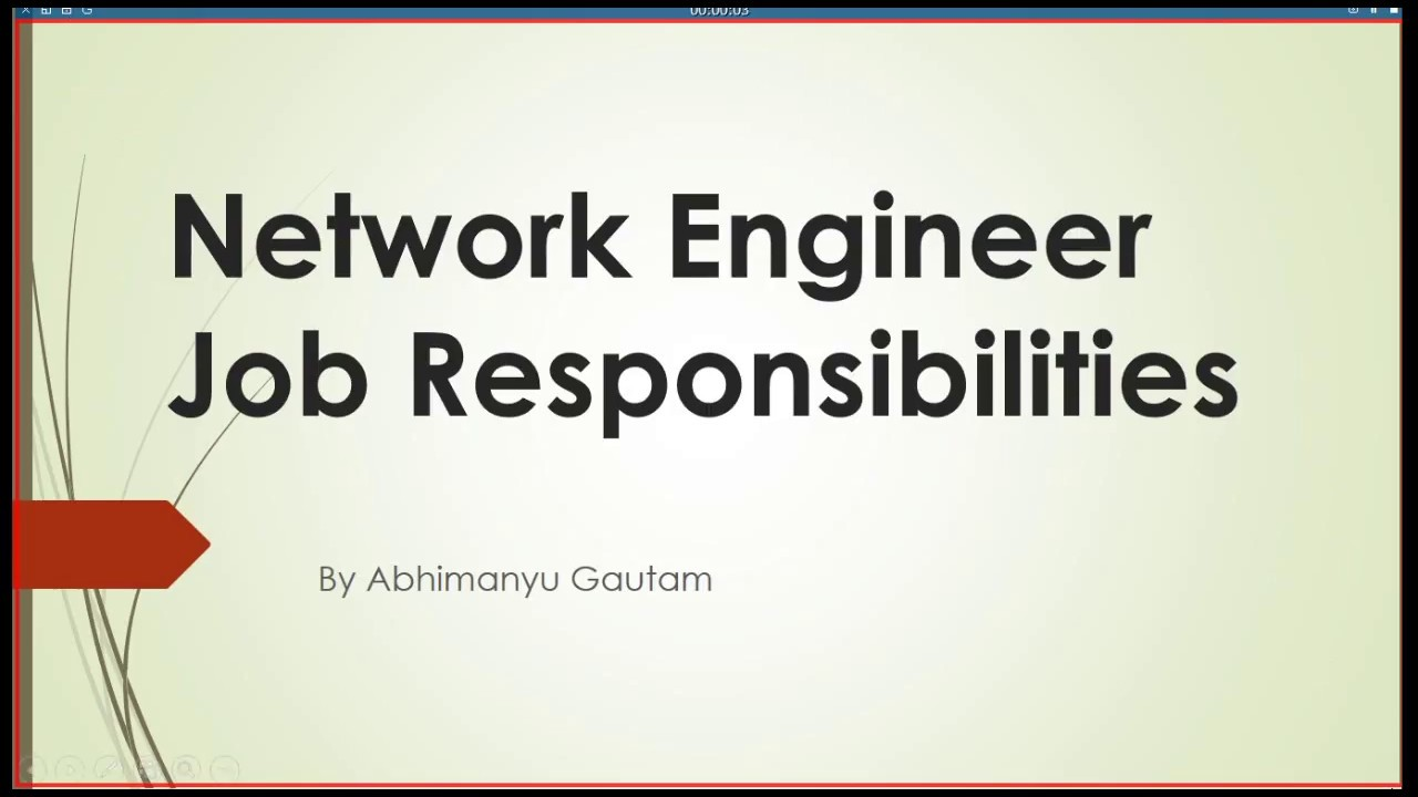 Network Engineer Job Role U0026 Responsibilities