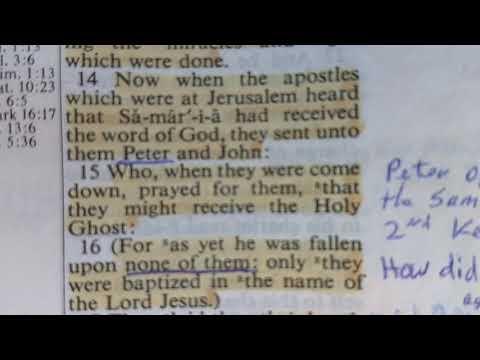Acts 8. Samaritans Saved.