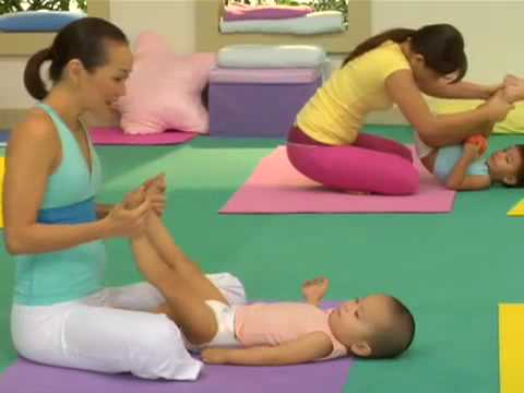 pampers yoga stretchycise episode 4  feet to head stretch