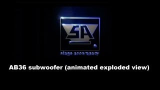 Stage Accompany - AB36 subwoofer (animated exploded view) Thumbnail
