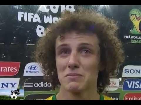 David Luiz Crying CryCries vs Germany Brazil vs-Germany 1-7 FIFA World Cup 2014
