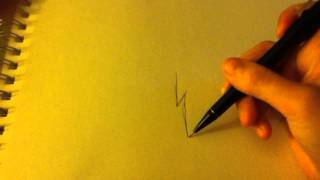 How to draw a simple lightning bolt