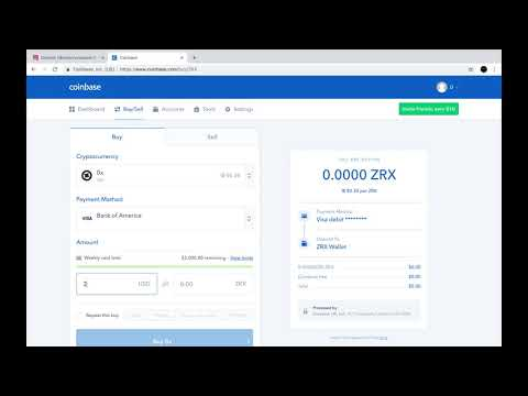 How to purchase #0x #token(#zrx) on #Coinbase