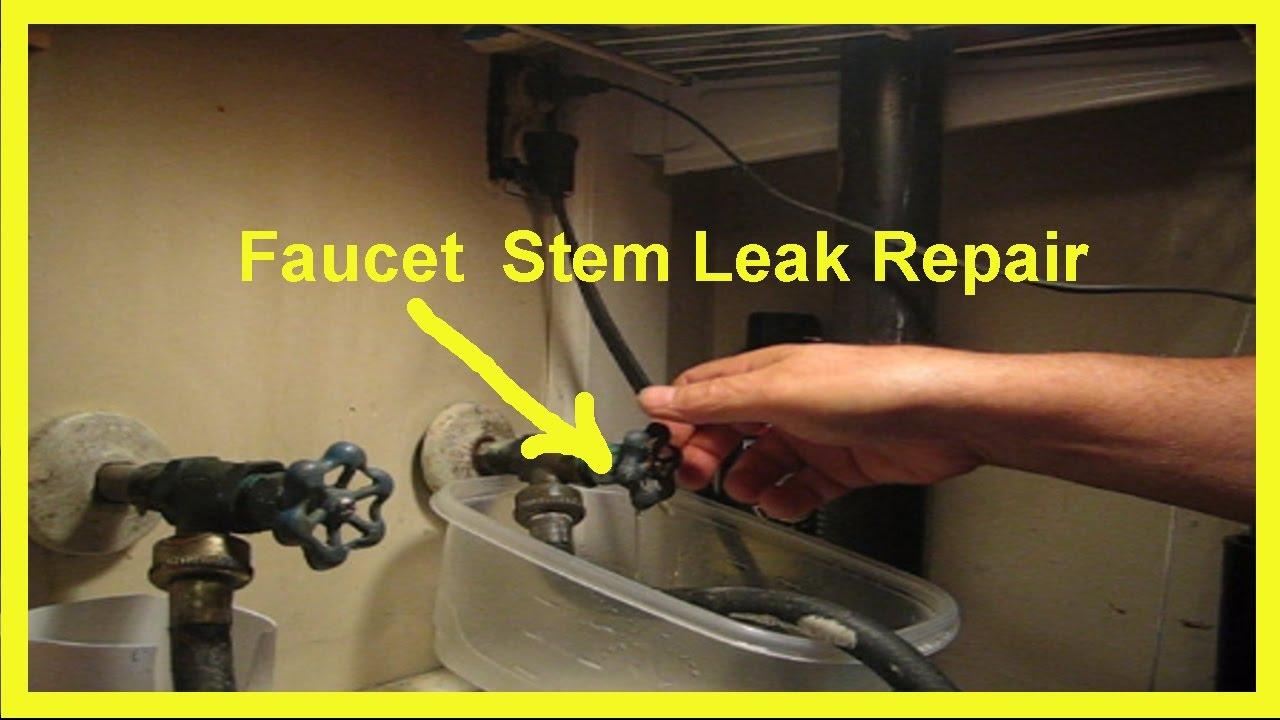 Faucet Stem Leak Repair a DIY Project - YouTube