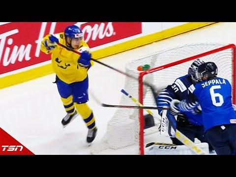 Sweden's Nils Hoglander Pulls Off A Perfect Lacrosse Goal