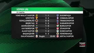 21. Hafta Fikstür ve Puan Durumu - Süper Lig