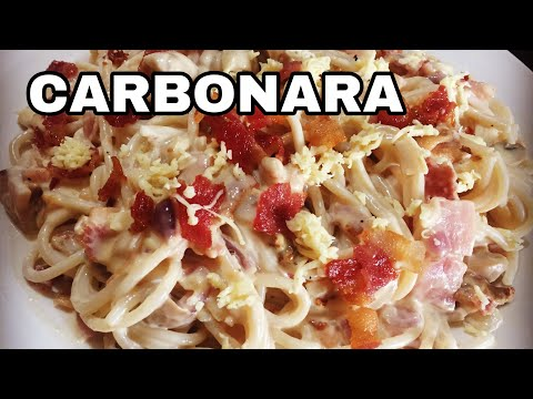 carbonara-ham-&-bacon-with-mushroom-pinoy-style-|-carbonara-recipe-💕🧚♀️