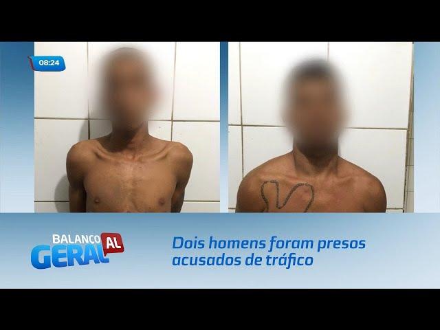 Dois homens foram presos acusados de tráfico de drogas no Benedito Bentes