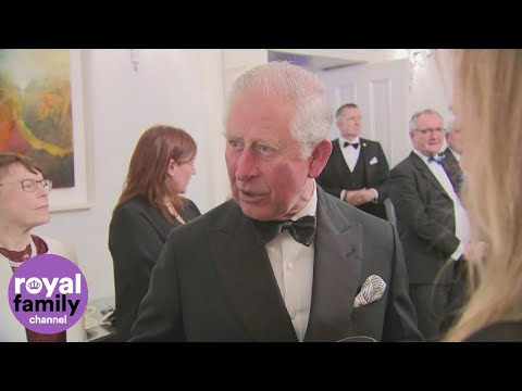 Prince Charles mingles with celebrities at St Patrick's Day dinner