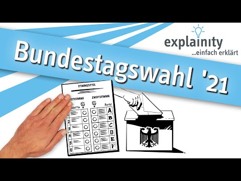 Bundestagswahl 2021 einfach erklärt (explainity® Erklärvideo)