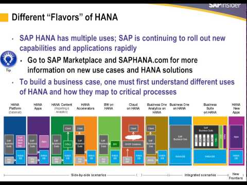 Building SAP HANA Biz Case + ROI - slide by slide review with Tony from Teklink