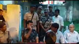Mla-dsp altercation between peace committee held in Dhanbad