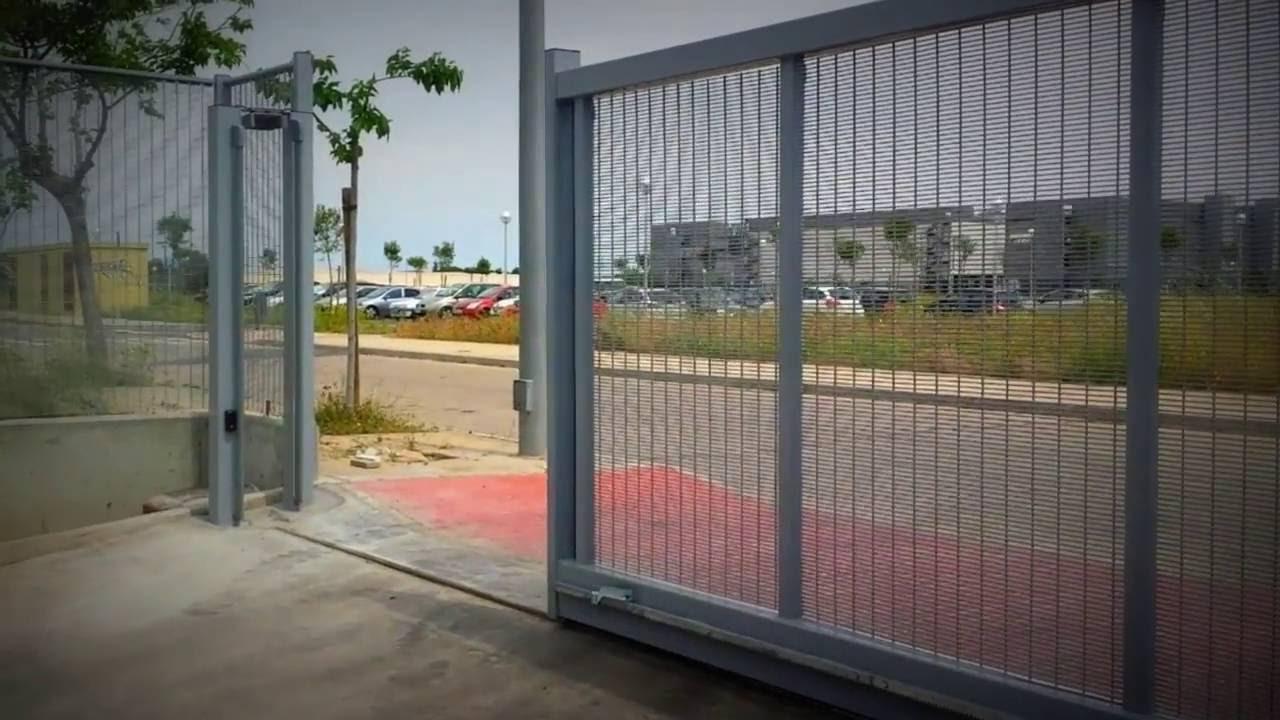Puerta corredera con motor youtube - Puerta empotrada corredera ...