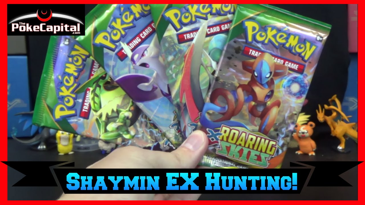 Pokemon Cards Xy Roaring Skies Pack Opening For Shaymin Ex Youtube
