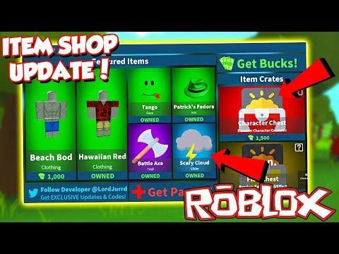 Code New Item Shop Update In Roblox Fortnite Island Royale