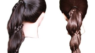 Escupir alrededor de la cola. Peinado sencillo. Video tutorial para principiantes