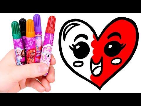 Dibuja Y Colorea Un Corazón Kawaii 😍❤️ Dibujo De Emoticonos